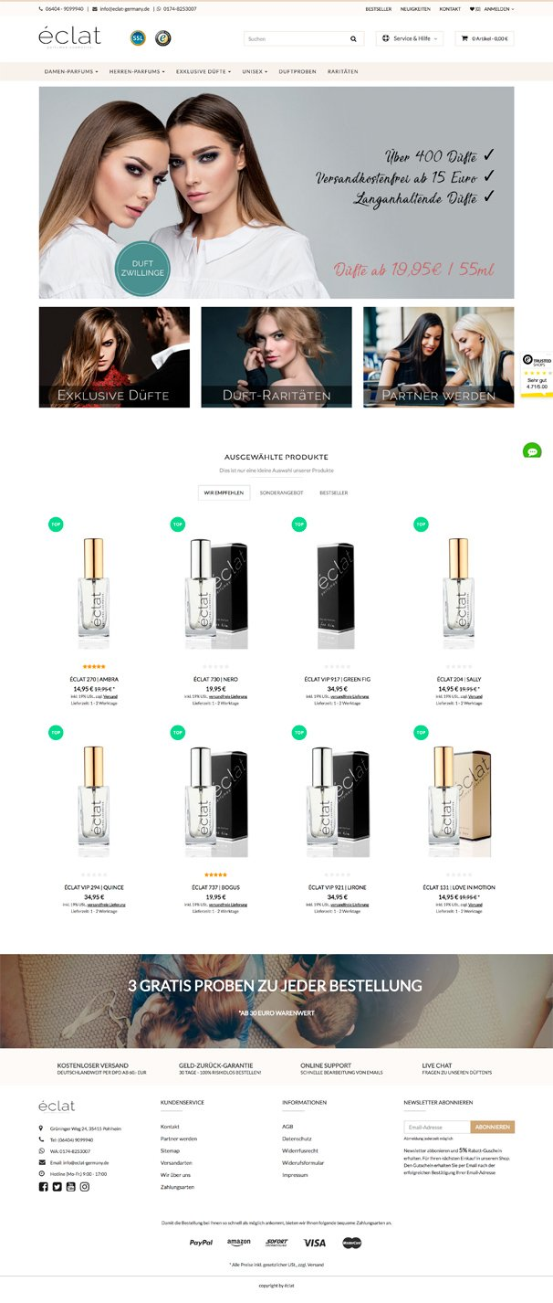 Eclat-Germany JTL-Shop Template Avia