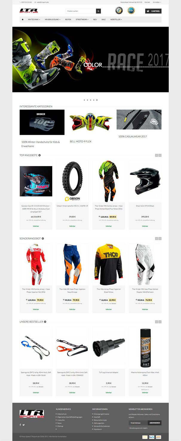LTRSports JTL-Shop Template Fire