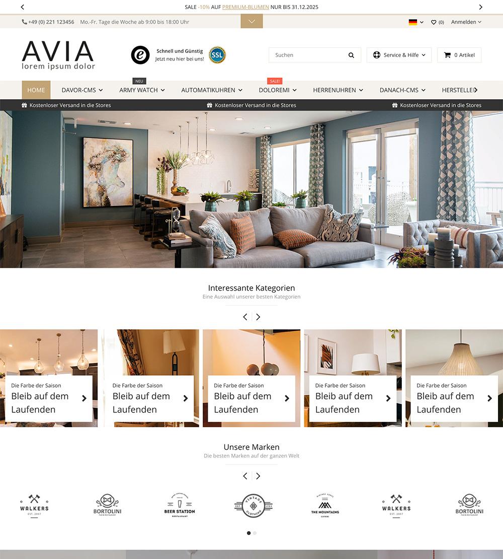 Das neue AVIA - JTL-Shop5 Template ist da
