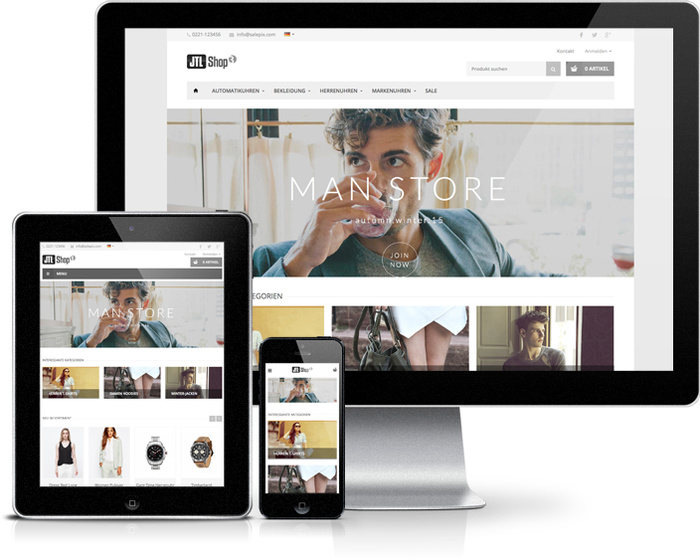 Fire JTL Shop Template responsive